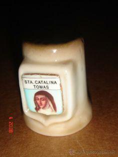 Dedal ceramica SANTA CATERINA TOMAS. Series VIRGENES Y SANTOS. 3.20 #dedales #ventadedales
