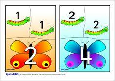Caterpillar/butterfly doubles jigsaws (SB1362) - SparkleBox