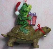 Frog Riding a Turtle Ornament Christmas Present Kurt Adler J7268A NWT