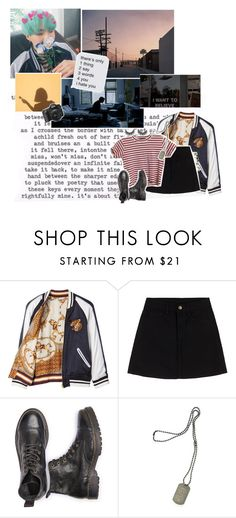 """""""Min Yoongi // 385 //"""" by cidinha-001 ❤ liked on Polyvore featuring Beautiful People, Dsquared2 and GET LOST"""