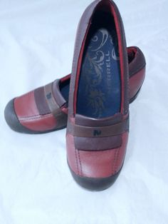 5aa68774c1 Merrell Shoes Plaza Moc Dark Autumn Leather Banded Loafer Brown 7M #Merrell  #WedgeLoafer #