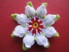 ЦВЕТОК с пышными лепестками FLOWER with lush petals Crochet - YouTube