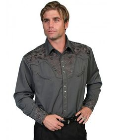 fc46176caa2 P634 Scully Men s Western Snap Shirt Cowtown Cowboy Outfitters