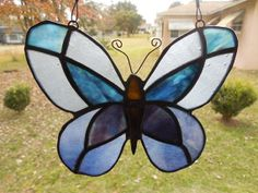 Stained Glass Butterfly Six different art glasses by ObanaGlass, $35.00