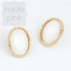 "Oval the Moon Earrings Quantity: 3 Price: $10 To purchase, comment ""sold"" with your email address."