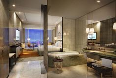 Sheraton Jakarta Gandaria City Hotel - King room from bathroom - Rendering