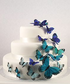 Beautiful Butterfly Cake  Plan you dream wedding http://www.allaboutweddingplanning.com & honeymoon http://www.jevellingerie.com