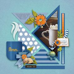 MmmWeekend | The Lilypad Scrapbook Templates, Scrapbook Pages, Pajamas All Day, Geometric Shapes, Hot Chocolate, Digital Scrapbooking, Design Elements, Layout, Frame