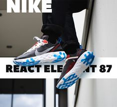 Free trackable shipping worldwide via DHL! We are your trusted source for buying the rarest sneakers at the best prices. Buy the best REACT ELEMENT 87 Dark Grey replica shoes Bape Sneakers, Grey Sneakers, Grey Shoes, Sneakers Fashion, Nike Snkrs, Exclusive Sneakers, Balenciaga Speed Trainer, Shoe Brands, Dark Grey