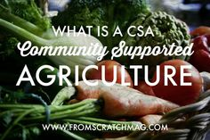 Community Supported Agriculture (CSA)is a long name for a very simple idea. Delicious, fresh, and often organically grown fruits and vegetables supplied directly from your neighbor's fields to your family's table.