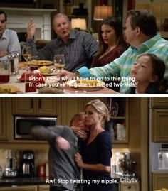 Modern Family. Just like me and Zane. Love it.