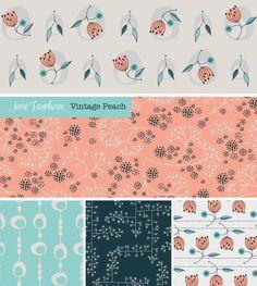 Vintage Peach Surface Pattern Designer Jane Farnham