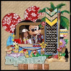 #papercraft #scrapbook #layout for #Disney