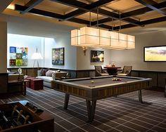 modern recreation room design    #AustinCustomHomeBuilders