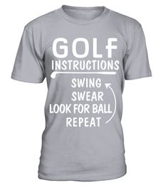 Golf Instructions Funny T Shirt