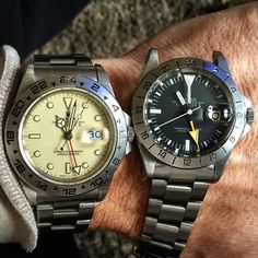 """Father and Son The Magic of MK1 #mk1 #explorer #ex2 #exii #rolex #rolexpassionreport #mounteneering #hillary #everest #expeditioneverest #vintagerolex…"""