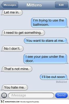 What if my cat could text ? > Text from Mittens