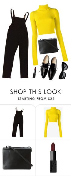 """""""Noora Skam 3"""" by vickiprevi ❤ liked on Polyvore featuring ASOS, Jacquemus, BCBGMAXAZRIA, NARS Cosmetics and CÉLINE"""