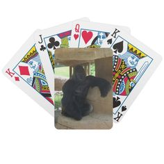 Grumpy Gorilla Playing Cards