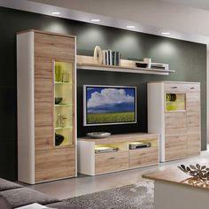 Stilvoll Wohnzimmer Schrankwand Modern