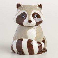 Ceramic Raccoon Sugar Pot