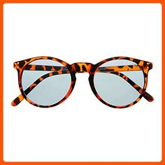 Womens Mens Freyrs Eyewear Clark Blue Lens Round Sunglasses (Tortoise) - Sunglasses (*Amazon Partner-Link)