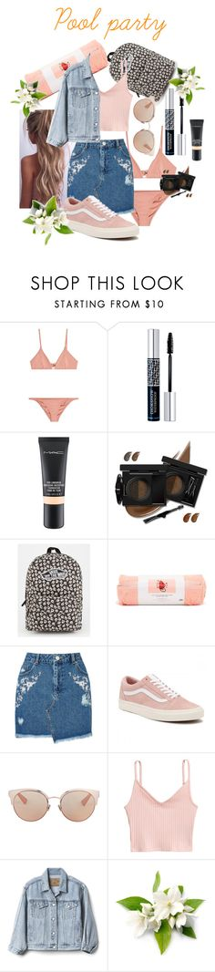"""""""Pool party"""" by annabalint16 ❤ liked on Polyvore featuring Melissa Odabash, Christian Dior, MAC Cosmetics, Vans, ban.do, Miss Selfridge, Gap and poolparty"""