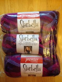 $14.25 SHIPPED! 3 Skeins Of Starbella Ruffle Yarn! Plum Preserves! Purples #Starbella #Ruffle