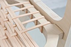 stylish and up to date furniture by studio klaer the bind chair by jessy van durme 8 2017 2018 Leather Furniture, Sofa Furniture, Furniture Plans, Modern Furniture, Furniture Design, Furniture Outlet, Furniture Stores, Plywood Furniture, Office Furniture