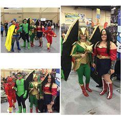 I found these on Channel 2 New's website #wizardworldtulsa2016 #wizardworldtulsa #Hawkgirl #justiceleague #wonderwoman #Flash #greenlantern #batman #robin #batmanandrobin