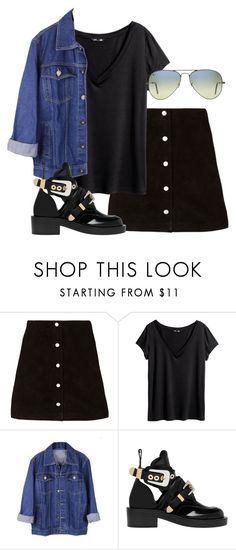 """""""Untitled #141"""" by simonakolevaa ❤ liked on Polyvore featuring H&M, Balenciaga and Ray-Ban"""