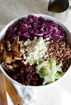 Cranberry, Pecan, and Gorgonzola Salad with Apple Cider Vinaigrette | Fabtastic Eats