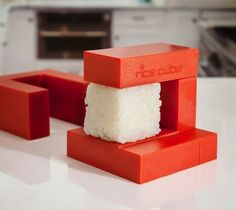 Rice Cube can make sushi from plain rice, cutting down calories and preparation time. You can even make sushi without the nori seaweed.