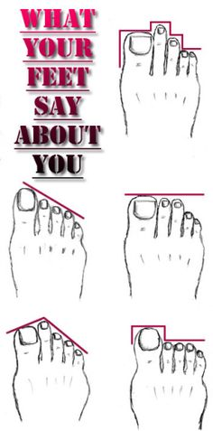 What your feet say about You From ancient times people read palms to find the future. But it is less known that feet can also uncover someone's character. So, take a look at your feet and discover your features. Health And Beauty, Health And Wellness, Health Care, Health Fitness, Women's Fitness, Health Quiz, Foot Reflexology, Health Remedies, Healthy Tips