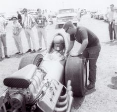 Eddie Hill, Amarillo 1966. The Surfers and Tommy Ivo were also at this event. Eddie designed and cast the fuel injection system on this one himself as well as building the chassis and engine. He is definitely the all around drag racer.