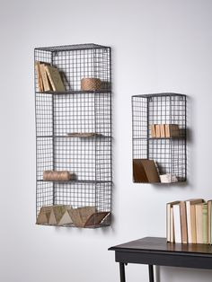 Stylish and practical, our wire wall rack has two shelves and handy keyholes to secure it to your wall. The wire mesh frame lends a touch of industrial style to your office, lounge or bathroom - pair with our Wire Cube Shelf to intensify the look, or surround with soft furnishings to add femininity.