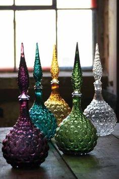 Boho Gypsy Glam ~ Vintage Genie Bottles