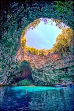 Melissani Cave, Kefalonia, Greece                                                                                                                                                                                 More