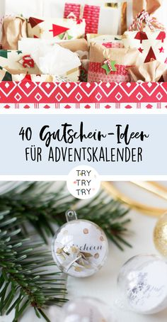 40 voucher ideas for the advent calendar filling // filling the advent calendar . 40 voucher ideas for the advent calendar filling // filling the advent calendar // DIY advent calendar Source by trytry Diy Christmas Gifts For Kids, Dollar Tree Christmas, Xmas Gifts, Diy Gifts, Christmas Bulbs, Christmas Decorations, Advent Calenders, Diy Advent Calendar, Love Bears All Things
