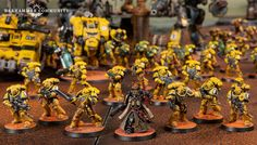 Imperial Knight, Imperial Fist, Angel Of Death, Starcraft, Character Modeling, Yellow Painting, Warhammer 40000, Space Marine, Marines