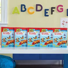 New for 2017! The Hot Dots Jr. Let's Learn the Alphabet Interactive Books 5 Book Set is perfect for the classroom, learning centers, and home schools.  The book teaches and reinforces the fundamentals of the alphabet. Ages 3+.