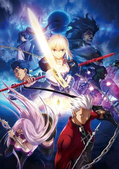 """First released as a visual novel, Fate Stay/Night launched an entire franchise centered around the Holy Grail War! The very first in the Fate series, Stay/Night focuses on high school student Shiro Emiya who is pulled into the Holy Grail War after witnessing a fight between two """"servants."""" Packed full of classic illustrations of some of your favorite characters from the game including Saber, Arche..."""
