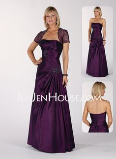 Mother of the Bride Dresses - $172.49 - A-Line/Princess Strapless Floor-Length Taffeta Mother of the Bride Dresses With Ruffle (008006485) http://jenjenhouse.com/A-line-Princess-Strapless-Floor-length-Taffeta-Mother-Of-The-Bride-Dresses-With-Ruffle-008006485-g6485