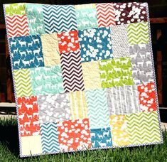 Easy Big Block Quilts Easy Big Block Quilt Patterns Free Big Block Quilt Pattern Big And Tall Fat Quarter Friendly Throw Baby Lap Quilt Size Fast Easy Simple Modern Fabrics Sunnyside Designs