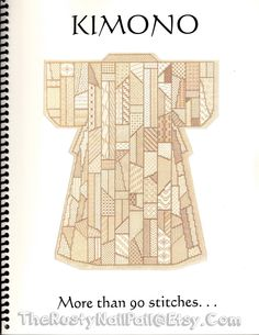 KIMONO More Than 90 stitches...by Hummingbird House, Maggie Lane & Ietje Jackovich Needlepoint Pattern Book and Instruction Guide, Beautiful by TheRustyNailPail on Etsy