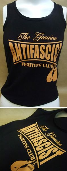 Camiseta para chica - The Genuine Antifascist Fighting Club. 10,75 euros Pedidos: www.barrio-obrero.com  Punk and Skinhead mailorder. We serve orders to all countries.