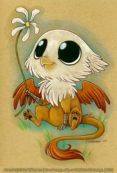 Little Gryphon -- The toxic cuteness is overflowing from the pixels onto my laptop...  O,O  *gasp* ... *dies*