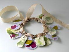 handmade paper charm bracelet.  Mod Podge jewelry: 20 project ideas to DIY. - Mod Podge Rocks
