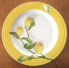 A yellow Citron plate by Porsgrund Plates And Bowls, Ferdinand, Tea Sets, Dinner Plates, Designing Women, Trays, Norway, Sweden, Dinnerware
