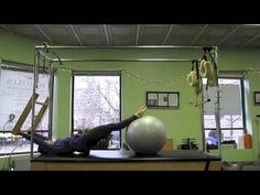Pilates Cadillac + Fitball - YouTube